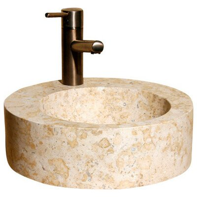 Circular Vessel Bathroom Sink Sink Finish: Sandstorm
