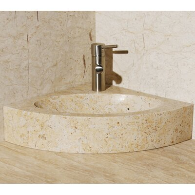 Sandstorm Stone 25 Corner Bathroom Sink