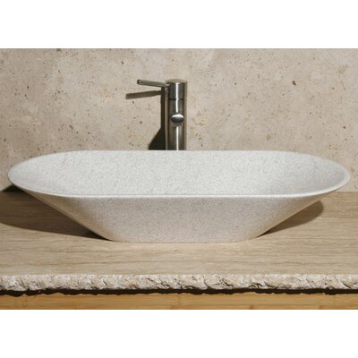 Oval Vessel Bathroom Sink Sink Finish: White Pearl