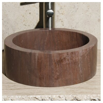Stone Circular Vessel Bathroom Sink Sink Finish: Mocha Cream