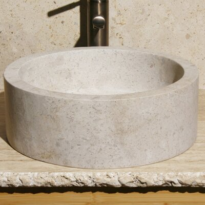 Circular Vessel Bathroom Sink Sink Finish: Cafe Blanc