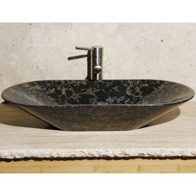 Oval Vessel Bathroom Sink Sink Finish: New Lepoard