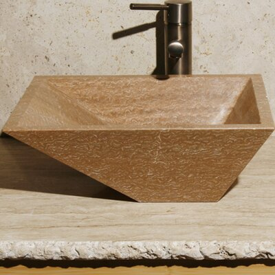 Stone Rectangular Vessel Bathroom Sink Sink Finish: Brown Sugar