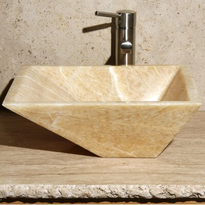 Rectangular Vessel Bathroom Sink Sink Finish: Sancrystal