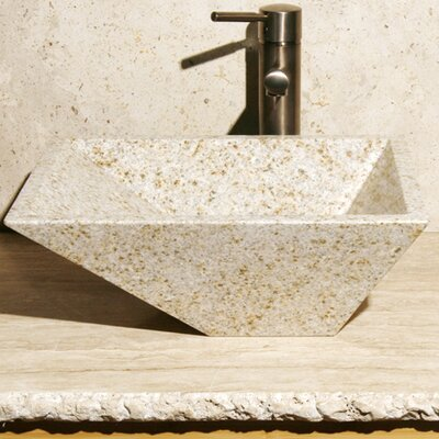 Rectangular Vessel Bathroom Sink Sink Finish: Desert Yellow
