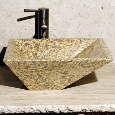 Rectangular Vessel Bathroom Sink Sink Finish: Mojave Gold