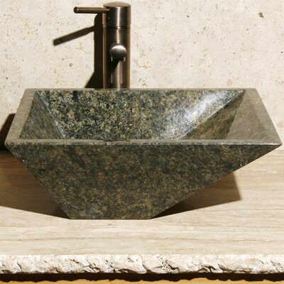 Rectangular Vessel Bathroom Sink Sink Finish: Green Amber
