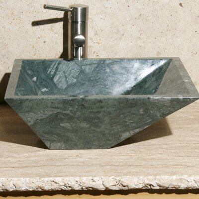 Rectangular Vessel Bathroom Sink Sink Finish: India Green