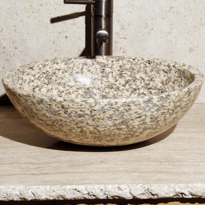 Stone Oval Vessel Bathroom Sink