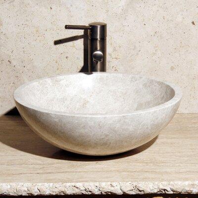 Stone Circular Vessel Bathroom Sink