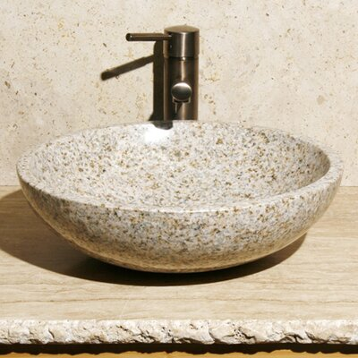 Stone Circular Vessel Bathroom Sink Sink Finish: Desert Yellow