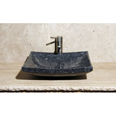 Stone Rectangular Vessel Bathroom Sink Sink Finish: Blue Pearl