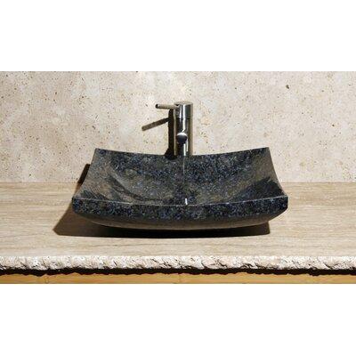 Stone Rectangular Vessel Bathroom Sink Sink Finish: Blue Sapphire