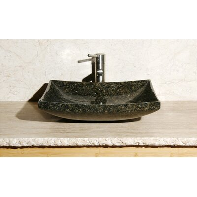 Rectangle Vessel Bathroom Sink Sink Finish: Uba Tuba