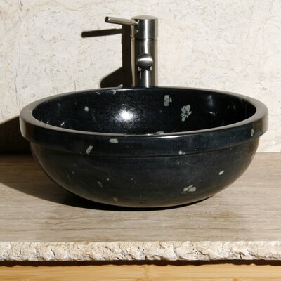 Circular Vessel Bathroom Sink Sink Finish: Night Vision