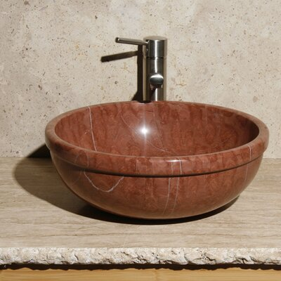 Stone Circular Vessel Bathroom Sink Sink Finish: Southwestern