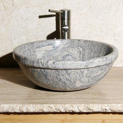 Stone Circular Vessel Bathroom Sink Sink Finish: Meridian