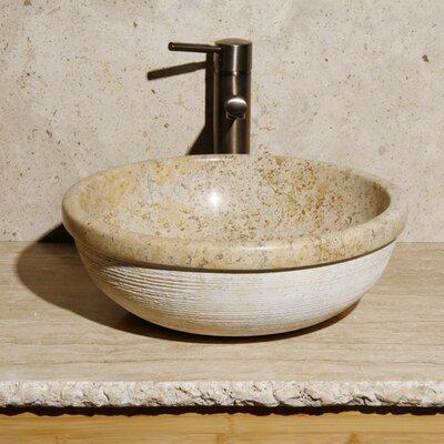 Circular Vessel Bathroom Sink Sink Finish: Sandstorm