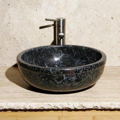 Stone Circular Vessel Bathroom Sink Sink Finish: Night Rose