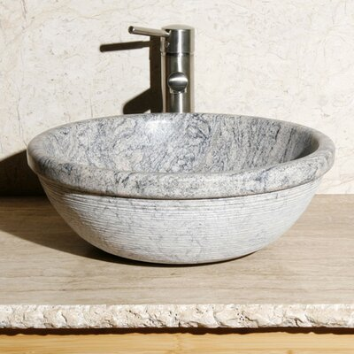 Stone Circular Vessel Bathroom Sink Sink Finish: Meridian