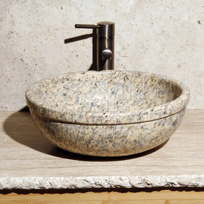 Circular Vessel Bathroom Sink Sink Finish: Mojave