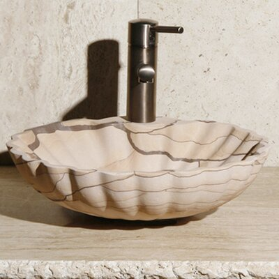 Stone Circular Vessel Bathroom Sink Sink Finish: San Dune