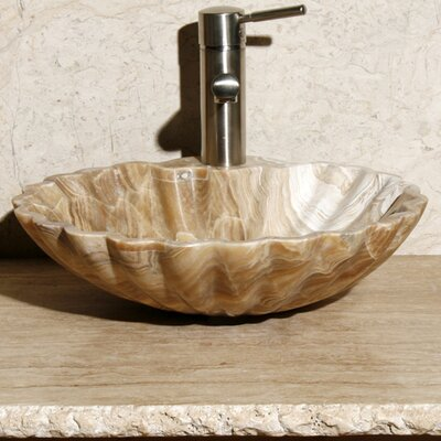 Stone Circular Vessel Bathroom Sink Sink Finish: Blonde Sugar