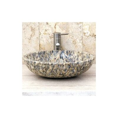 Oval Vessel Bathroom Sink Sink Finish: San Cecilia Granite