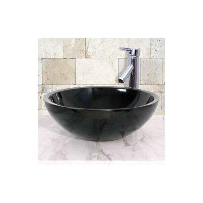 Circular Vessel Bathroom Sink Sink Finish: Black Granite / High Sheen Polish