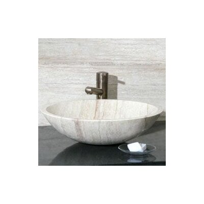 Circular Vessel Bathroom Sink Sink Finish: White Sands Travertine / High Sheen Polish