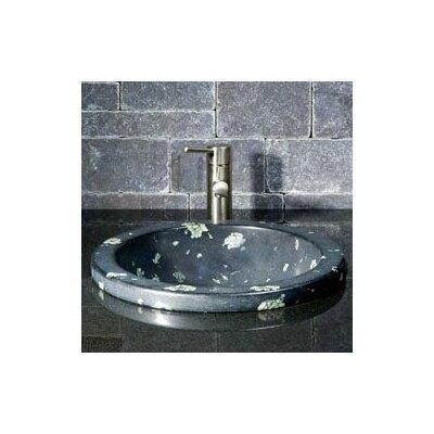 Circular Deckmount Self Rimming Bathroom Sink Sink Finish: Night Vision Marble/ High Sheen Polish