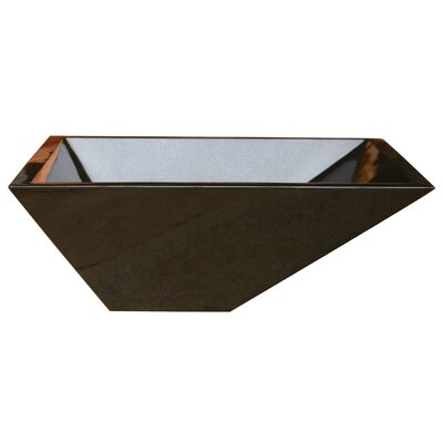 Irregular Rectangular Vessel Bathroom Sink Sink Finish: Black Granite / High Sheen Polish