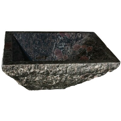 Irregular Rectangular Vessel Bathroom Sink Sink Finish: Night Rose Granite / High Sheen Polish