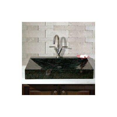 Rectangular Vessel Bathroom Sink Sink Finish: Night Rose Granite