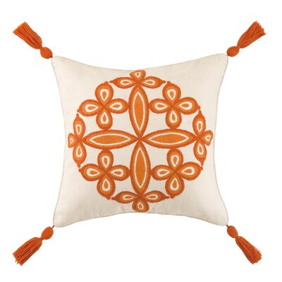 Desert Medallion Linen Throw Pillow Color: Mandarin