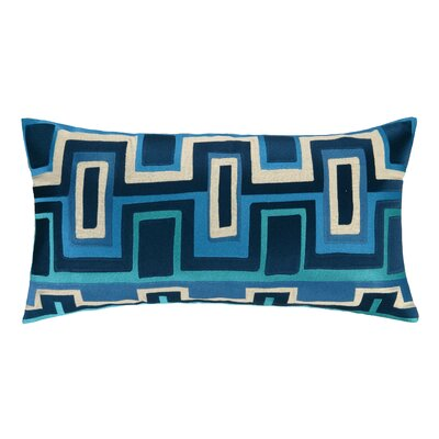 Ladera Linen Lumbar Pillow Color: Blue