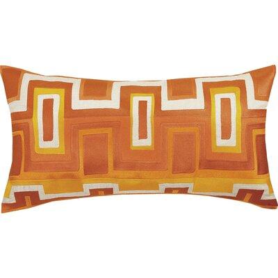 Ladera Linen Lumbar Pillow Color: Orange