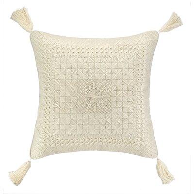 Portola Needlepoint Linen Throw Pillow Color: Neutral