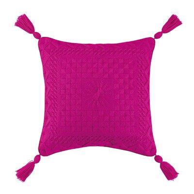Portola Needlepoint Linen Throw Pillow Color: Pink