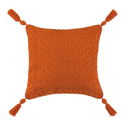 Portola Needlepoint Linen Throw Pillow Color: Orange