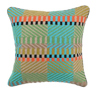 Vintage Weave Needlepoint Linen Throw Pillow Color: Cool