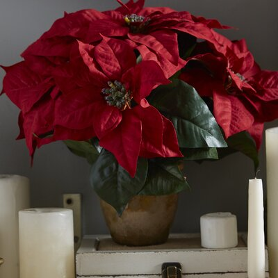 Faux Red Poinsettia