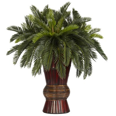 Cycas Bamboo Silk Desk Top Plant in Decorative Vase 6655