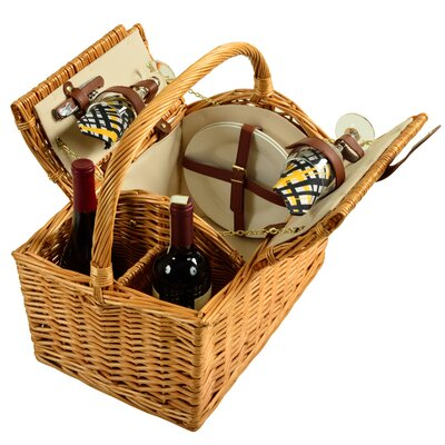 Vineyard Willow for 2 Picnic Basket