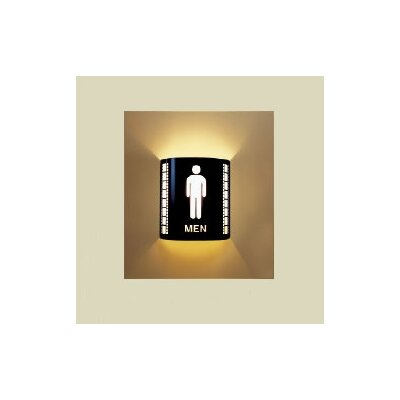 Mens Room Wall Sconce Color: Black