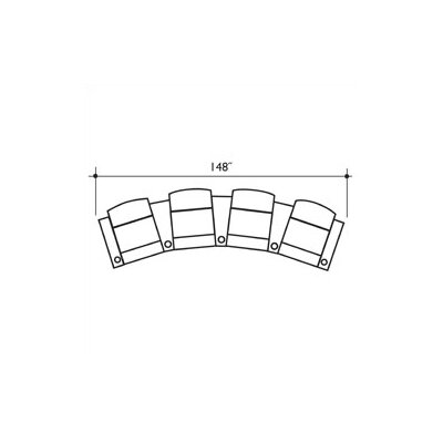 Milan Home Theater Lounger (Row of 4)