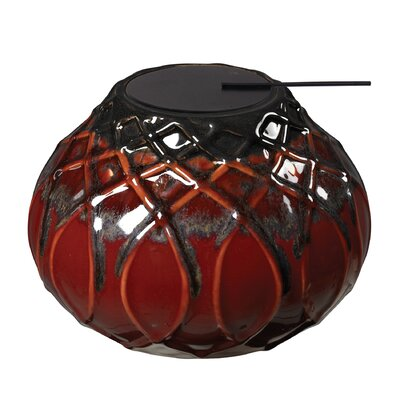 Joines Ceramic Tea Light Finish: Mococca Red Glaze