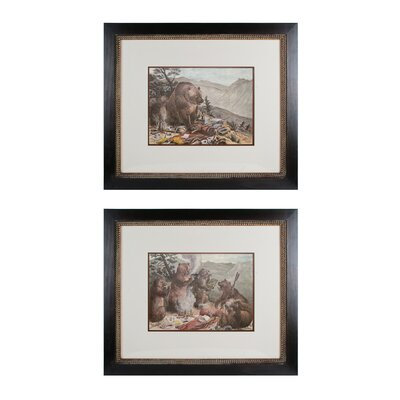Campout 2 Piece Framed Graphic Art Set