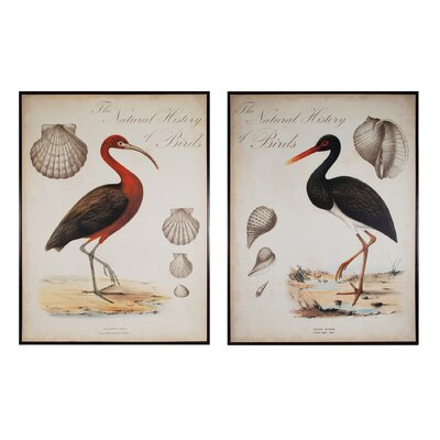 Heron Anthology 2 Piece Framed Painting Print Set
