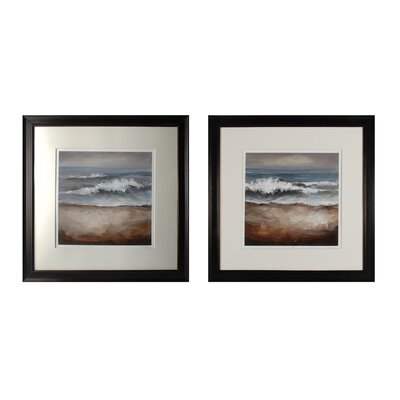 Once in a While Tears from the Sea 2 Piece Framed Painting Print Set